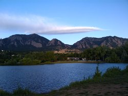 Boulder at sunrise
